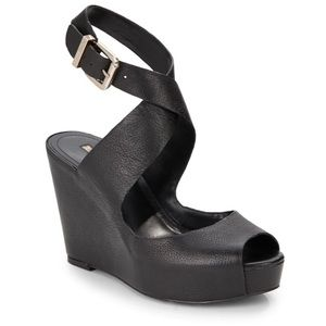 BCBGeneration Tevos Ankle Strap Wedge Sandals